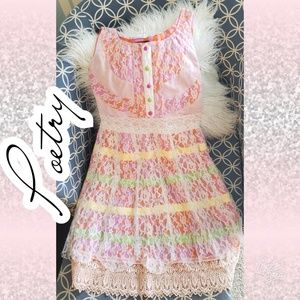Poetry dress lace fun eccentric hippie boho